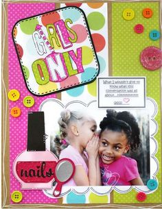 Love this colorful page by Babydoll1 at scrapbook.com.