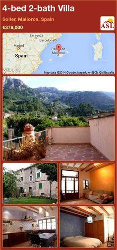 4-bed 2-bath Villa in Soller, Mallorca, Spain ►€378,000 #PropertyForSaleInSpain
