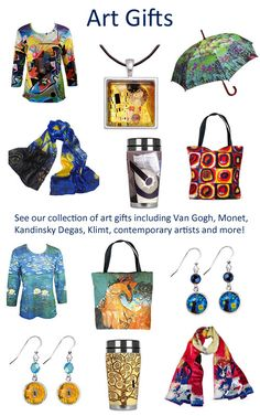 See our collection of art gift ideas for art lovers and artist! Free US shipping.