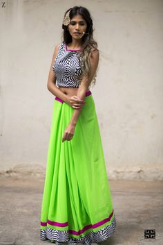 How to style a saree - drape your saree like a skirt/lehenga to get more use out of it as well. #indianfashion #saree #bollywood #indianoutfits #indianwedding #custommade #designdevelopdeliver #buycustom #indiaboulevard #howtodrapeasaree