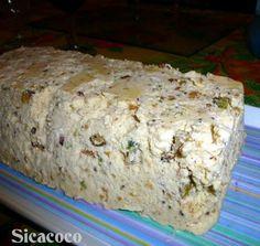 NOUGAT GLACE Caramel Blond, Banana Bread, Desserts, Food, Sliced Almonds, Dried Fruit, Pistachio, Recipe, Kitchens