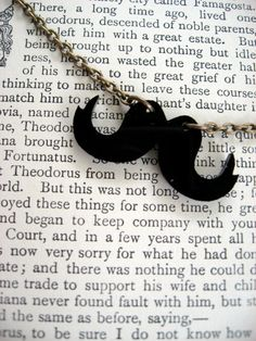 A Vintage-Inspired Mustache Necklace - $12