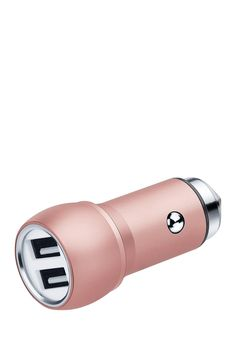 Rose Gold 2-Port Charger & Woven USB Cord Set