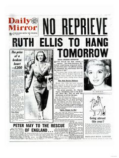 newspaper report on execution of Ruth Ellis