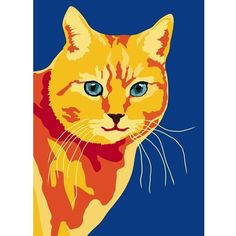 Items similar to Orange Cat print, 9 x on Etsy Crazy Cat Lady, Crazy Cats, Gatos Cool, Orange Cats, Cat Colors, Elements Of Art, Pretty Cats, Cool Cats, Cat Art