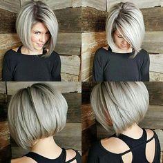 Popular Short Hairstyles, Latest Hairstyles, Short Hairstyles For Women, Hairstyles 2018, Popular Haircuts, Thin Hairstyles, Stacked Bob Hairstyles, Hairstyles Videos, Vintage Hairstyles
