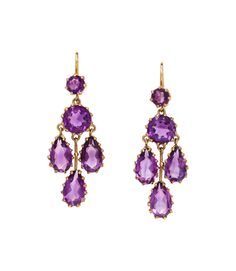 Find one-of-a-kind vintage jewelry for sale with The Three Graces. We pride ourselves on finding unique, genuine antique estate jewelry that will amaze. Amethyst Jewelry, Amethyst Earrings, Gold Jewelry, Vintage Jewelry, Fine Jewelry, Drop Earrings, Jewellery, Fine Art Auctions, Chandelier Earrings