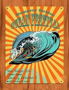 "Brand New Hand Made Vintage Retro Dempsey Holder Ocean Festival Art Tin Sign The size is slightly larger than 8"" x 10"". It has 4 holes for hanging. This item is a laser print adhered to tin. It has raw edges with hand cut sides, not rolled edges.  $11.00"