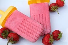 The Healthy Happy Wife: Strawberry Creamsicles (Dairy, Gluten/Grain and Refined Sugar Free)