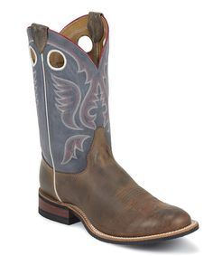 1bcc308d614 Justin Boots Cognac Pull-Up Bent Rail Leather Cowboy Boot