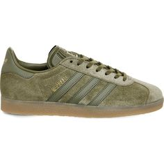 ADIDAS Gazelle suede trainers (€87) ❤ liked on Polyvore featuring shoes, sneakers, suede sneakers, lacing sneakers, adidas shoes, rubber sole shoes and adidas sneakers
