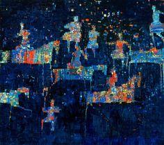 Hunting the night, from the 'Hunting Series' - Reza Derakshani