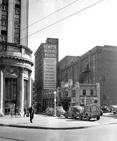 1940s view of Atlanta's Hurt Building and the Derby Show (originally the Atlanta Theatre).