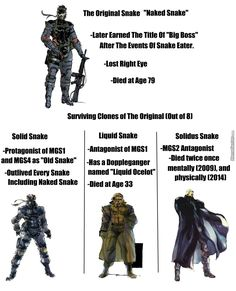 Wait Solidus was still alive in How? Can anyone explain this XD<<<well, if I remember he was practically dead but was on life support, but he was officially declared brain dead in Mgs V, Video Game Logic, Kojima Productions, Anime Military, Game Info, Game Concept Art, Image Of The Day, Metal Gear Solid, Videos