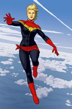 Ms Marvel = the new Captain Marvel. Repinning because of the reasonableness of the outfit. FINALLY!