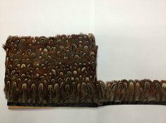 2 metros / lot Ringneck naturelle plumes de faisan frange Plumages ruban(China (Mainland))