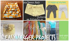 This Big Oak Tree: 6 Easy Serger Projects My Sewing Room, Sewing Class, Sewing For Kids, Baby Sewing, Serger Sewing Projects, Sewing Hacks, Sewing Tutorials, Sewing Ideas, Sewing Tips