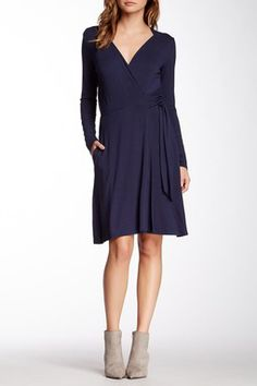 Seamed Wrap Dress - nordy's rack