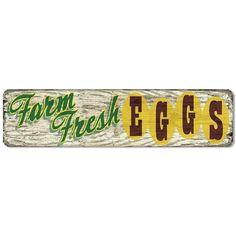 Sticky Notes Bargain World Fresh Eggs Novelty Metal Arrow Sign