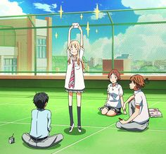 tsubaki, kaori, and ryouta image