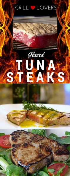 Grill Lovers' Amazing Glazed Tuna Steaks Recipe   #recipes #foodporn #foodie Tuna Steak Recipes, Grilling Recipes, Shellfish Recipes, Seafood Recipes, Grilled Tuna Steaks, Grilled Fish, My Favorite Food, Favorite Recipes, Recipe Creator