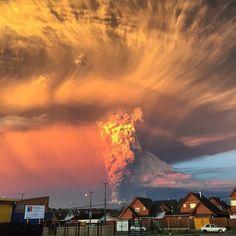 Calbuco volcano eruption in Chile