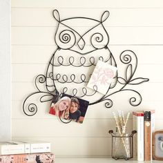 This wire owl is multi-purpose: an amazing desk decoration, an unusual jewelry hanger, or, a photo holder. From PB Teen.