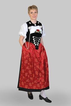 Swiss girls in traditional clothing during the yearly