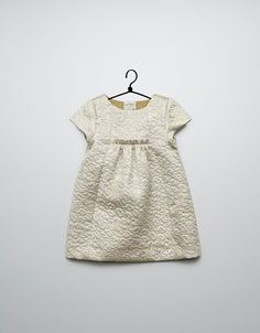 gold jacquard dress - Dresses - Baby girl (3-36 months) - Kids - ZARA France