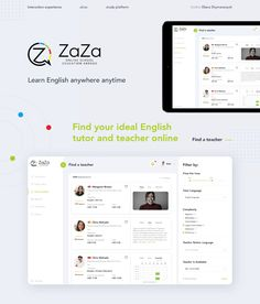 Dashboard UX/UI Design - Online school education abroad on Behance Adobe Premiere Pro, Adobe Photoshop, Course Search, Website Design Layout, Ui Ux Design, Interactive Design, Learn English, Author, Education