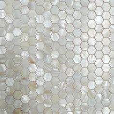 American Hexagon Mother Of Pearl Tiles White Mosaic Backsplash Kitchen Wall  Tile Stickers Shower Bath Wall Flooring Hexagon Tile