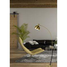 Moderne booglamp in trendy kleur goud!