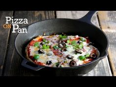 No Oven Pizza Video Recipe - Pan Pizza(Indian Style) - YouTube