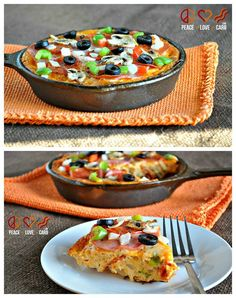 Pizza Frittata - Low Carb, Gluten-Free