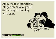 I like this kind of compromise! ;)