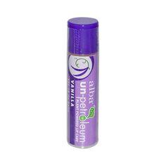 Alba Un-Petroleum Lip Balm with SPF-18 Vanilla – 0.15 oz – Case of 24