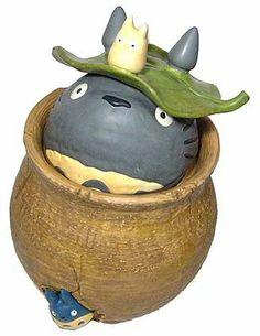 1 left - Cookie Jar / Container - Ceramics - Totoro & Chu & Sho Totoro - 2006 - no production (new)