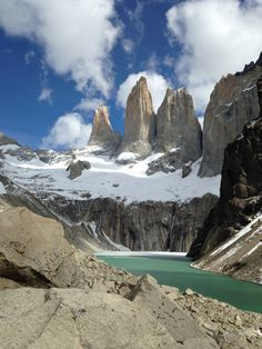 Torres del Paine, Torres del Paine, Chile - The towers of Torres del Paine