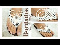 Chinelo bordado com manta de pérolas flores da chapada diamantina - YouTube