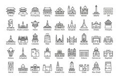European Capitals – Icon Set by József Balázs-Hegedüs on Sarajevo Bosnia, Belgrade Serbia, Bratislava, Budapest, Icons Web, Sweden Cities, France Eiffel Tower, Graphisches Design, Flat Design