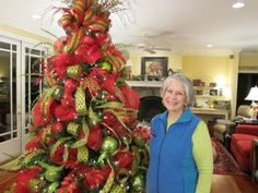 Deco Mesh Christmas Tree - beautiful