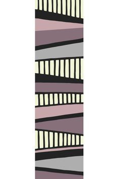 Layers Horizontal Stripe Retro Geometric Hallway Runner