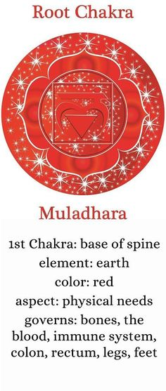 chakra-one-description Magick is brewing ✯ Visit… Root Chakra Healing, Healing Spells, Chakra Root, Reiki, Mantras Chakras, Chakra Symbols, Mudras, Chakra System, Chakra Crystals