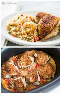 Slow Cooker Chicken Rice Casserole from Simply Recipes [via Slow Cooker from Scratch - SlowCookerFromScratch.com]