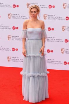 Vanessa Kirby wearing Burberry at the BAFTA TV Awards in London