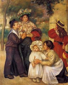 "Pierre-Auguste Renoir ""The Artist's Family"" 1896 (Barnes Foundation, Philadelphia, PA)"