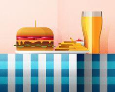 Burger & Beer on Behance