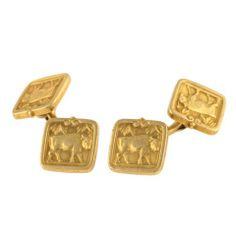 Tiffany & Co. Antique Double-Sided Gold Cufflinks
