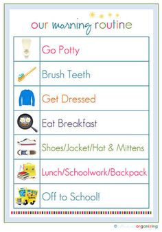 Even the most laid-back mom knows that getting the little ones out the door in the morning can be a chore. As much as we'd like the tots to just get up and get moving, sometimes they need some motivation. This free printable morning routine chart helps give kids the independence they crave, with the order mom needs for them to make it to school on time. Print it out, and see how much more smoothly your mornings run!  Source: I Heart Organizing