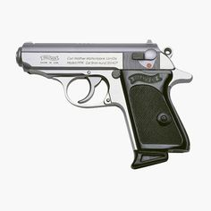 You can't talk about concealable pistols without mentioning the famous James Bond pistol. This stainless Walther PPK is a trustworthy cal pistol that's as easy to carry as it is on the eyes. Weapons Guns, Guns And Ammo, Rifles, 32 Acp, Best Concealed Carry, Conceal Carry, Military Guns, Self Defense, Shotgun